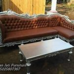 Kursi Sofa Sudut Mewah Silver