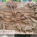 Relief Gambar Desa Kayu Jati Original