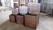 Box laundry kayu jati