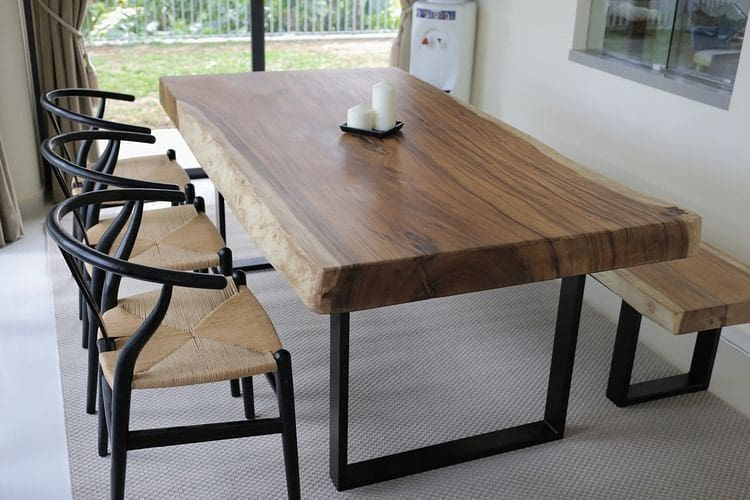 Dining table trembesi solid