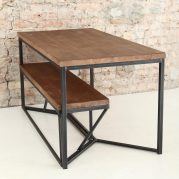 Set meja klasik kaki besi