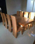 Set meja makan trembesi 8 kursi