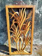 Ukiran dinding kayu motif tebu