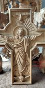 Salib gantung ukiran kayu jati