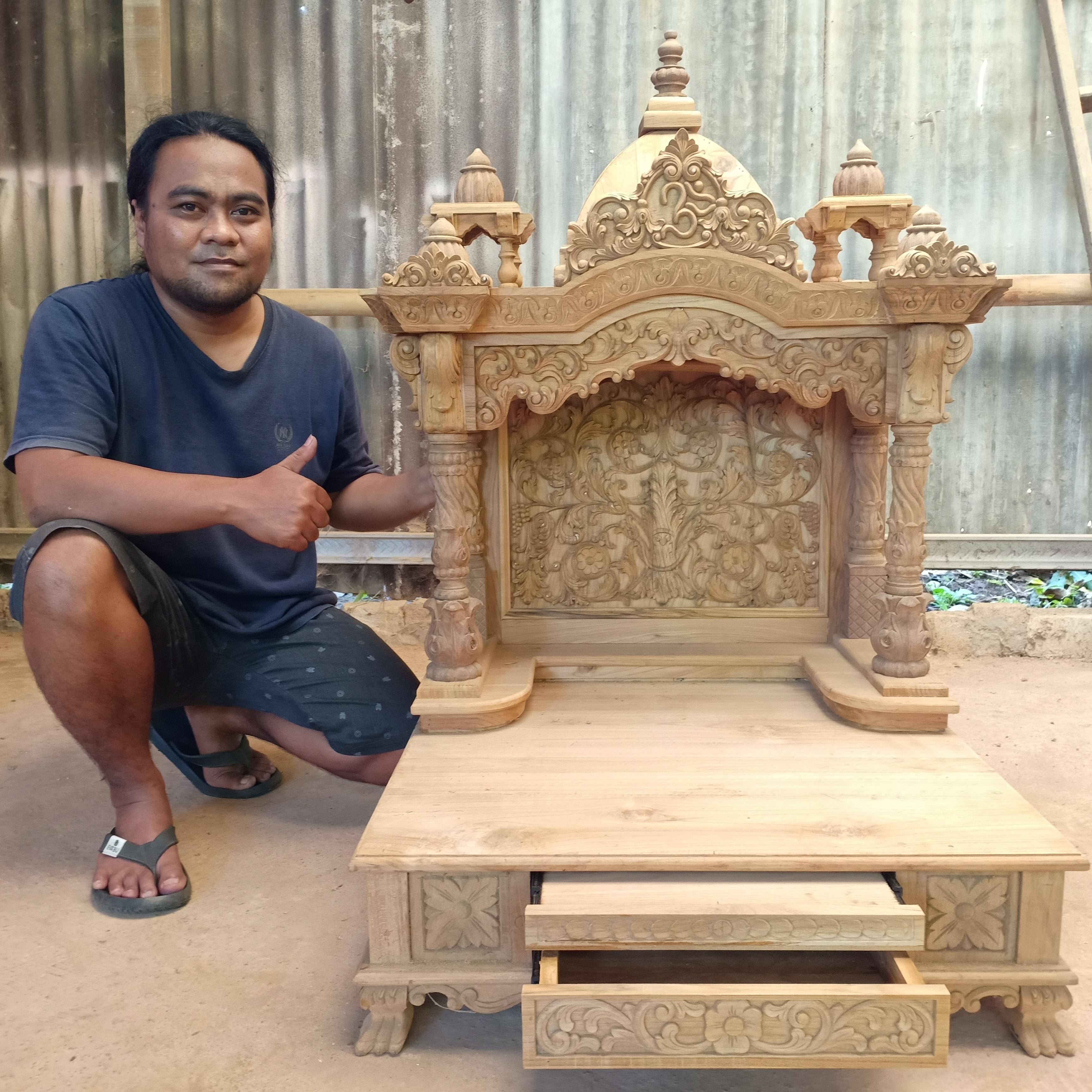 Wood Pooja carving temple